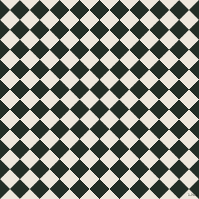 45/135 degree angle diagonal checkered chequered squares checker pattern checkers background, 47 pixel square size, , Black Bean and White Linen checkers chequered checkered squares seamless tileable