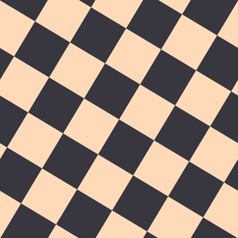 59/149 degree angle diagonal checkered chequered squares checker pattern checkers background, 141 pixel square size, , Black Marlin and Peach Puff checkers chequered checkered squares seamless tileable