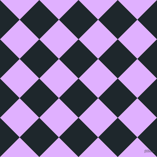 45/135 degree angle diagonal checkered chequered squares checker pattern checkers background, 94 pixel square size, , Black Pearl and Mauve checkers chequered checkered squares seamless tileable