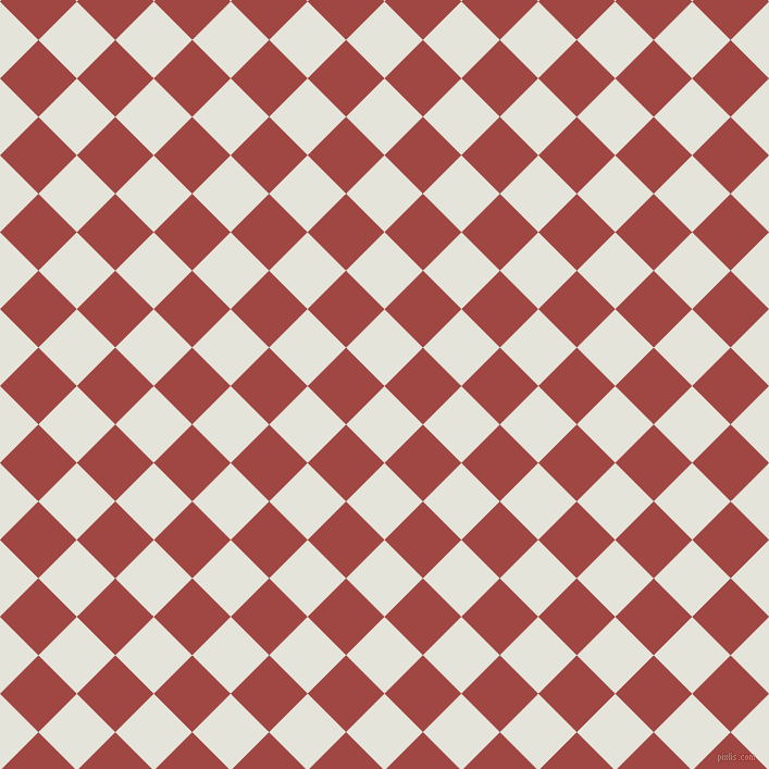 45/135 degree angle diagonal checkered chequered squares checker pattern checkers background, 50 pixel squares size, , Black White and Roof Terracotta checkers chequered checkered squares seamless tileable