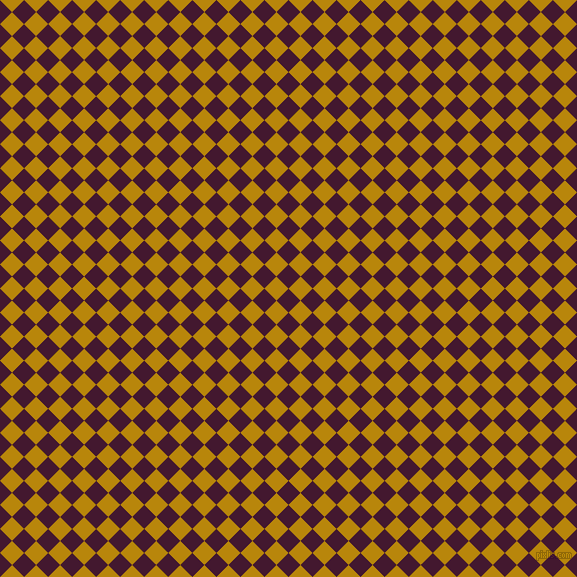 45/135 degree angle diagonal checkered chequered squares checker pattern checkers background, 17 pixel square size, , Blackberry and Dark Goldenrod checkers chequered checkered squares seamless tileable