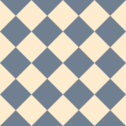 45/135 degree angle diagonal checkered chequered squares checker pattern checkers background, 76 pixel squares size, , Blanched Almond and Slate Grey checkers chequered checkered squares seamless tileable