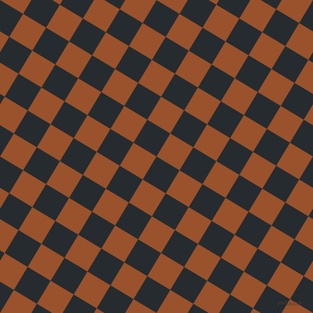 59/149 degree angle diagonal checkered chequered squares checker pattern checkers background, 39 pixel square size, , Blue Charcoal and Hawaiian Tan checkers chequered checkered squares seamless tileable