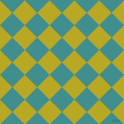 45/135 degree angle diagonal checkered chequered squares checker pattern checkers background, 58 pixel square size, , Blue Chill and Earls Green checkers chequered checkered squares seamless tileable