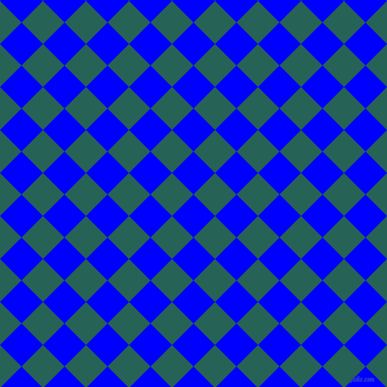 45/135 degree angle diagonal checkered chequered squares checker pattern checkers background, 44 pixel square size, , Blue and Eden checkers chequered checkered squares seamless tileable