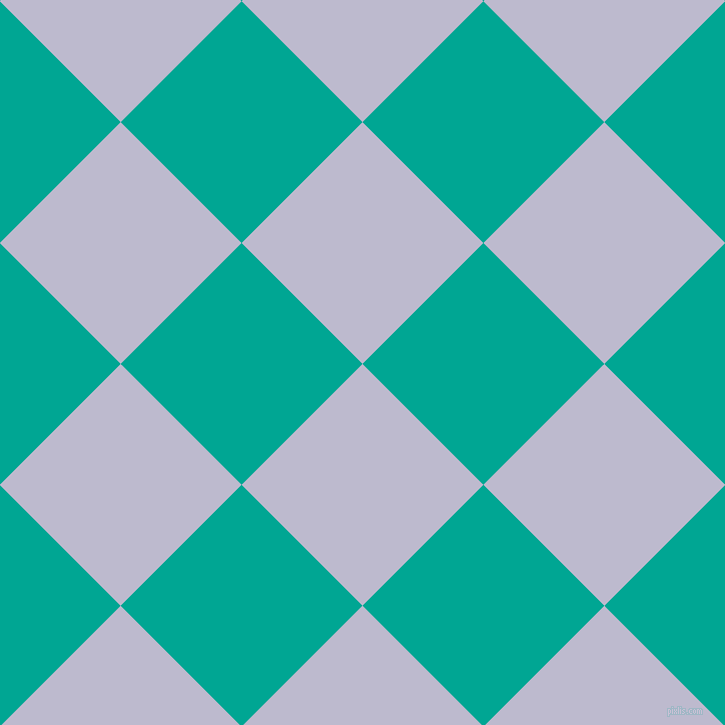 45/135 degree angle diagonal checkered chequered squares checker pattern checkers background, 171 pixel square size, , Blue Haze and Persian Green checkers chequered checkered squares seamless tileable