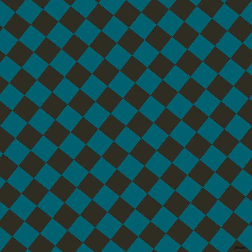 51/141 degree angle diagonal checkered chequered squares checker pattern checkers background, 64 pixel squares size, , Blue Lagoon and Karaka checkers chequered checkered squares seamless tileable