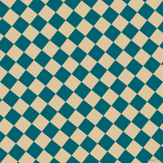 51/141 degree angle diagonal checkered chequered squares checker pattern checkers background, 41 pixel square size, , Blue Lagoon and Raffia checkers chequered checkered squares seamless tileable