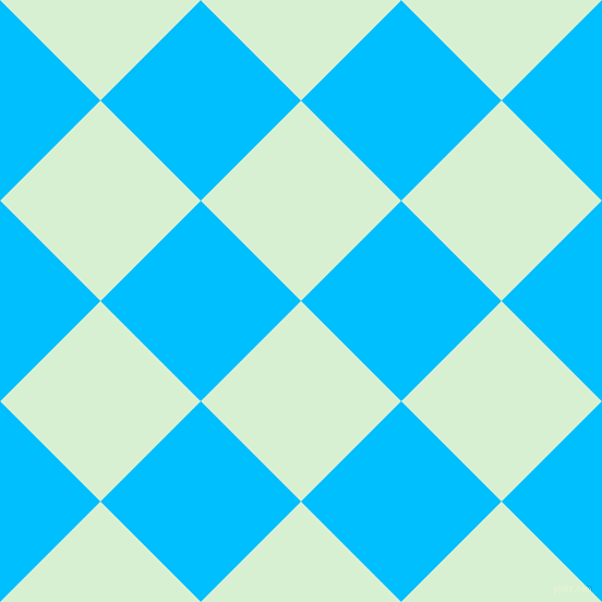 45/135 degree angle diagonal checkered chequered squares checker pattern checkers background, 130 pixel squares size, , Blue Romance and Deep Sky Blue checkers chequered checkered squares seamless tileable
