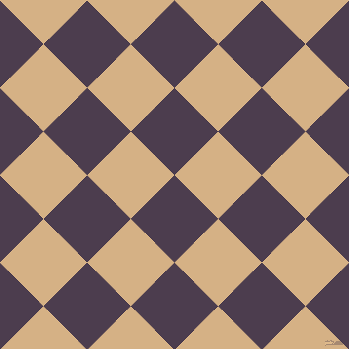 45/135 degree angle diagonal checkered chequered squares checker pattern checkers background, 125 pixel square size, , Bossanova and Calico checkers chequered checkered squares seamless tileable