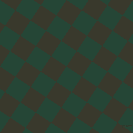 56/146 degree angle diagonal checkered chequered squares checker pattern checkers background, 70 pixel square size, , Bottle Green and El Paso checkers chequered checkered squares seamless tileable