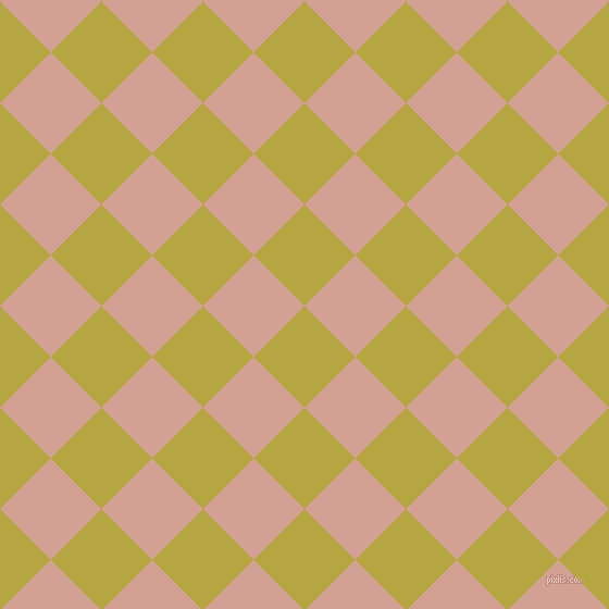45/135 degree angle diagonal checkered chequered squares checker pattern checkers background, 66 pixel square size, , Brass and Rose checkers chequered checkered squares seamless tileable