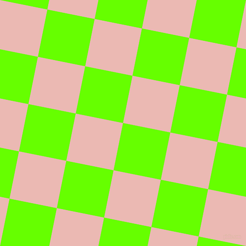 79/169 degree angle diagonal checkered chequered squares checker pattern checkers background, 98 pixel squares size, , Bright Green and Beauty Bush checkers chequered checkered squares seamless tileable