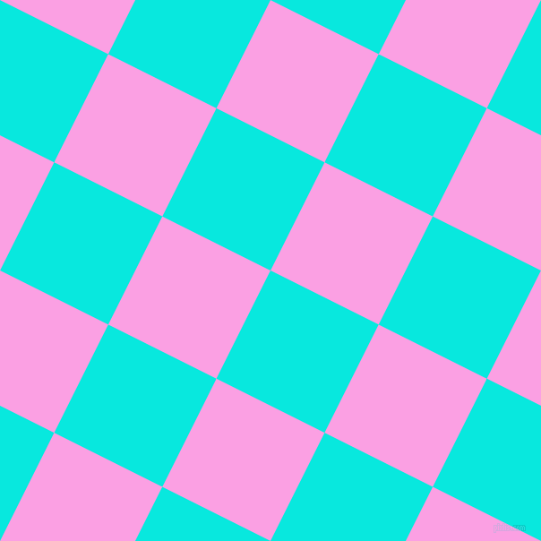 63/153 degree angle diagonal checkered chequered squares checker pattern checkers background, 135 pixel square size, , Bright Turquoise and Lavender Rose checkers chequered checkered squares seamless tileable