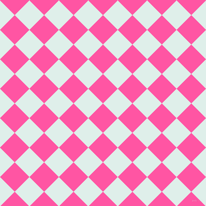 45/135 degree angle diagonal checkered chequered squares checker pattern checkers background, 69 pixel squares size, Brilliant Rose and Clear Day checkers chequered checkered squares seamless tileable