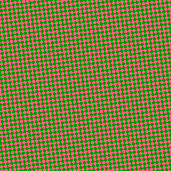 52/142 degree angle diagonal checkered chequered squares checker pattern checkers background, 12 pixel square size, , Brink Pink and Islamic Green checkers chequered checkered squares seamless tileable