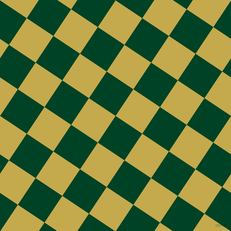 56/146 degree angle diagonal checkered chequered squares checker pattern checkers background, 109 pixel squares size, , British Racing Green and Sundance checkers chequered checkered squares seamless tileable