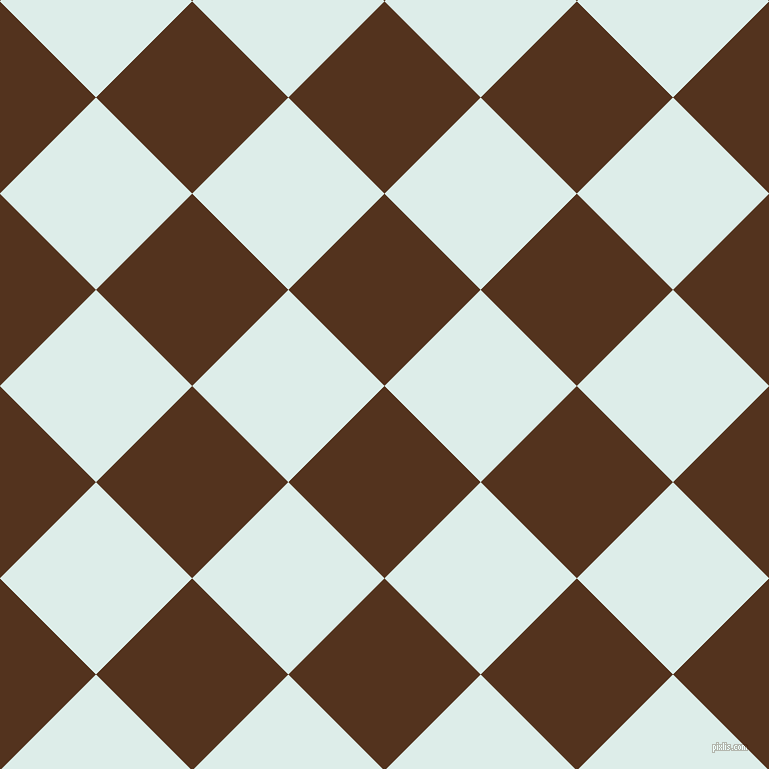 45/135 degree angle diagonal checkered chequered squares checker pattern checkers background, 136 pixel square size, , Brown Bramble and Tranquil checkers chequered checkered squares seamless tileable