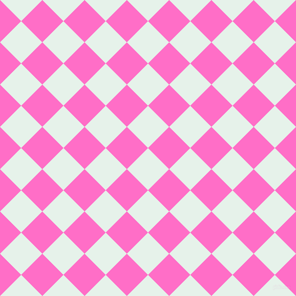45/135 degree angle diagonal checkered chequered squares checker pattern checkers background, 61 pixel square size, , Bubbles and Neon Pink checkers chequered checkered squares seamless tileable