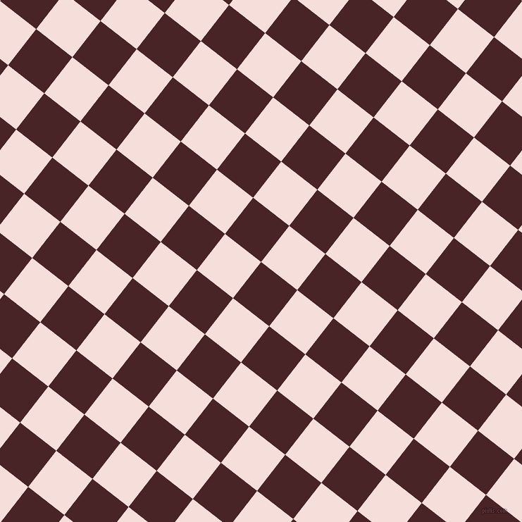52/142 degree angle diagonal checkered chequered squares checker pattern checkers background, 65 pixel squares size, , Bulgarian Rose and Remy checkers chequered checkered squares seamless tileable