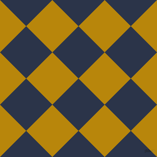 45/135 degree angle diagonal checkered chequered squares checker pattern checkers background, 127 pixel square size, , Bunting and Dark Goldenrod checkers chequered checkered squares seamless tileable