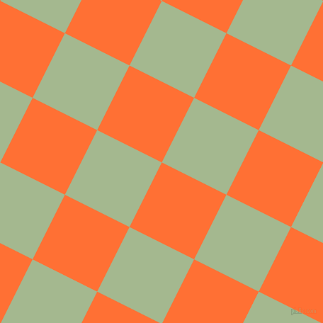 63/153 degree angle diagonal checkered chequered squares checker pattern checkers background, 102 pixel squares size, , Burnt Orange and Norway checkers chequered checkered squares seamless tileable