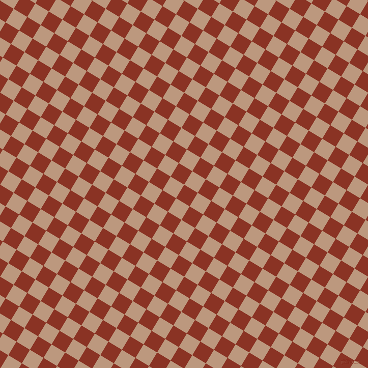 59/149 degree angle diagonal checkered chequered squares checker pattern checkers background, 31 pixel square size, , Burnt Umber and Pale Taupe checkers chequered checkered squares seamless tileable