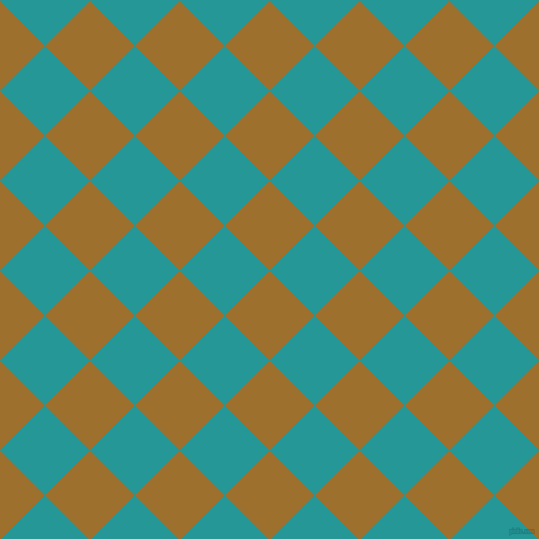 45/135 degree angle diagonal checkered chequered squares checker pattern checkers background, 89 pixel square size, Buttered Rum and Java checkers chequered checkered squares seamless tileable