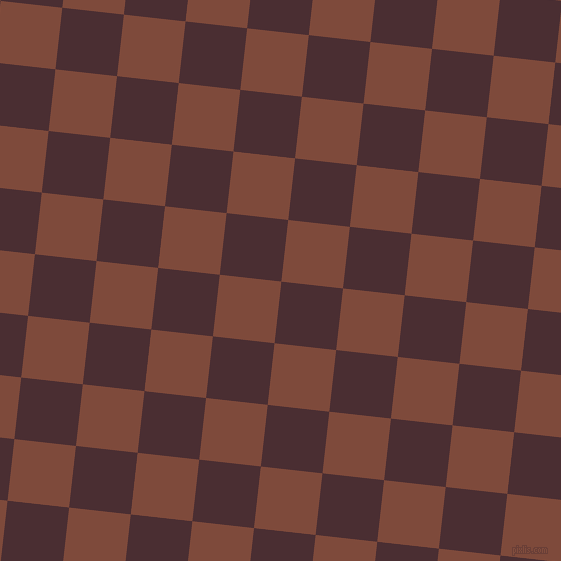 84/174 degree angle diagonal checkered chequered squares checker pattern checkers background, 62 pixel squares size, , Cab Sav and Nutmeg checkers chequered checkered squares seamless tileable