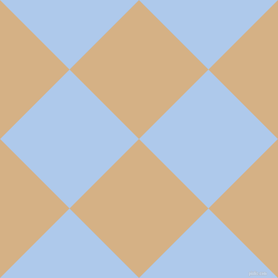 45/135 degree angle diagonal checkered chequered squares checker pattern checkers background, 195 pixel square size, Calico and Tropical Blue checkers chequered checkered squares seamless tileable
