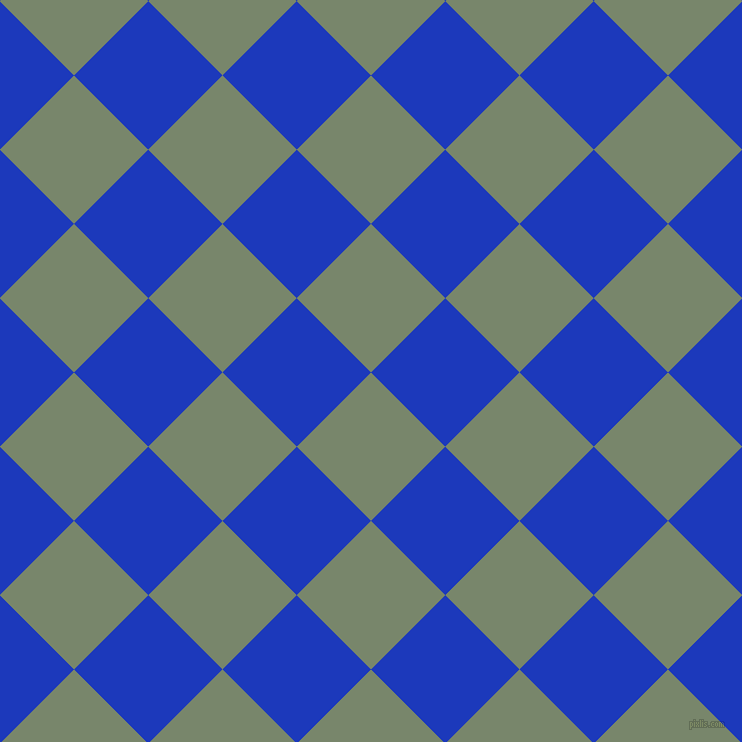 45/135 degree angle diagonal checkered chequered squares checker pattern checkers background, 105 pixel squares size, , Camouflage Green and Persian Blue checkers chequered checkered squares seamless tileable