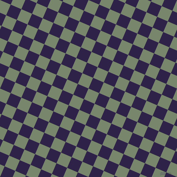 67/157 degree angle diagonal checkered chequered squares checker pattern checkers background, 38 pixel squares size, , Camouflage Green and Violent Violet checkers chequered checkered squares seamless tileable
