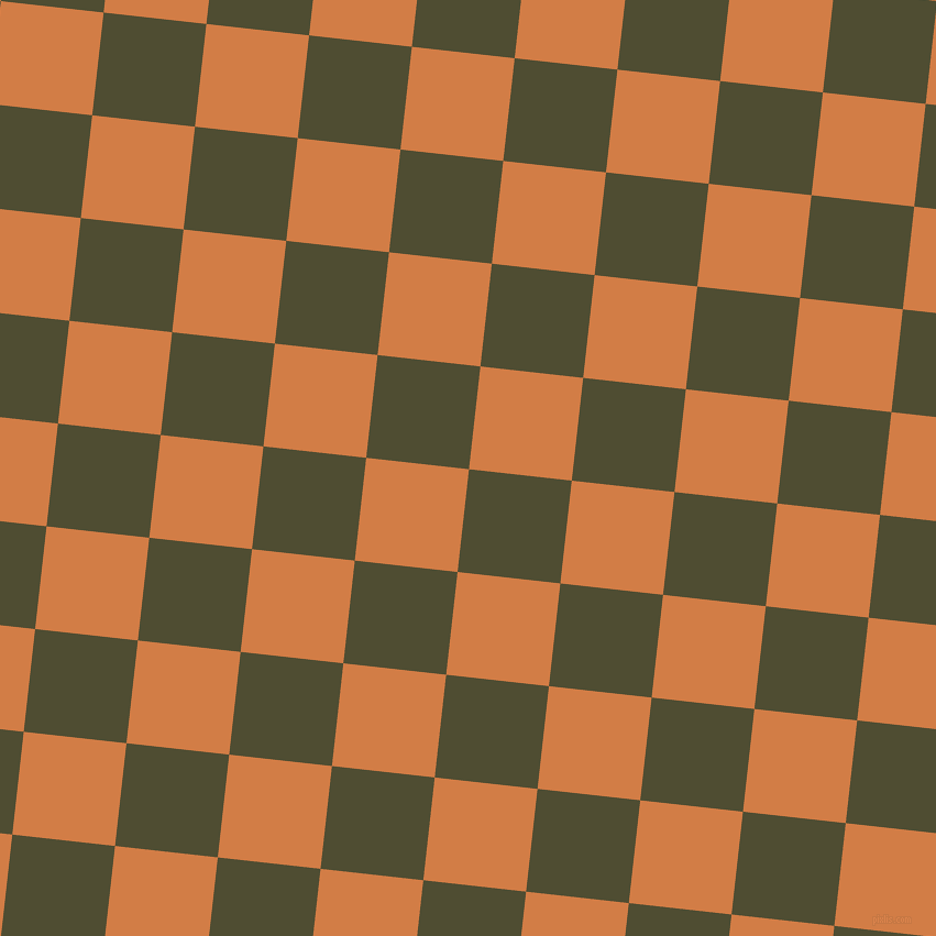 84/174 degree angle diagonal checkered chequered squares checker pattern checkers background, 94 pixel squares size, , Camouflage and Raw Sienna checkers chequered checkered squares seamless tileable