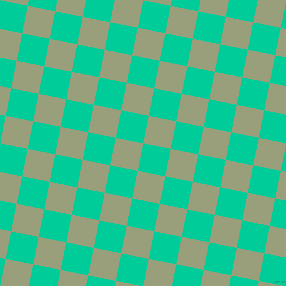 79/169 degree angle diagonal checkered chequered squares checker pattern checkers background, 97 pixel squares size, , Caribbean Green and Sage checkers chequered checkered squares seamless tileable
