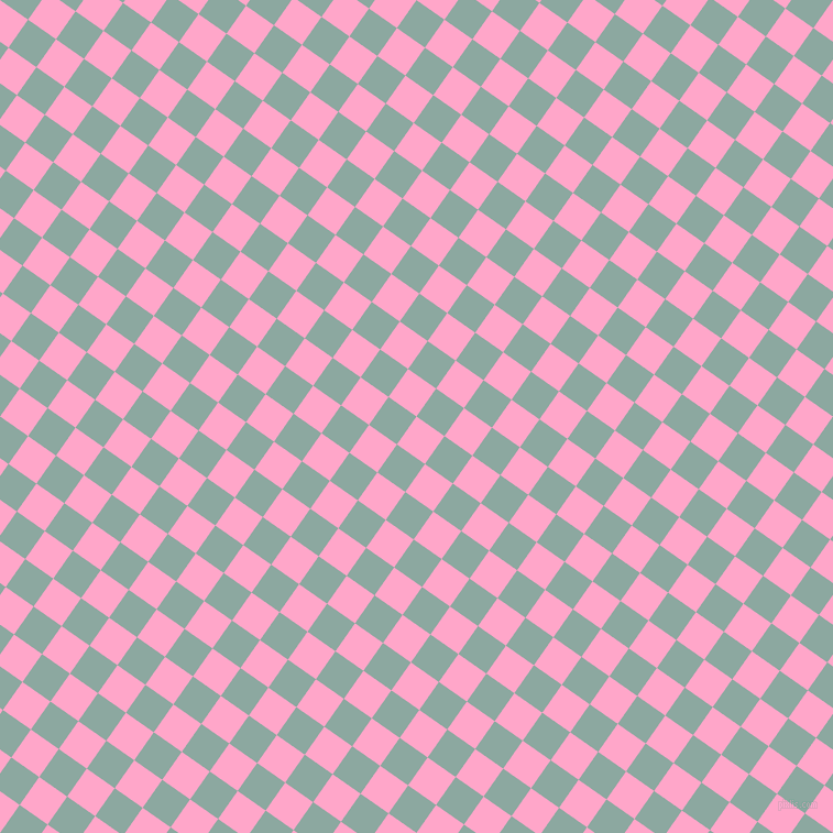 55/145 degree angle diagonal checkered chequered squares checker pattern checkers background, 31 pixel squares size, , Carnation Pink and Cascade checkers chequered checkered squares seamless tileable