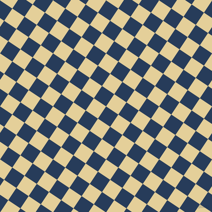 56/146 degree angle diagonal checkered chequered squares checker pattern checkers background, 50 pixel square size, , Catalina Blue and Double Colonial White checkers chequered checkered squares seamless tileable