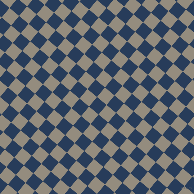 50/140 degree angle diagonal checkered chequered squares checker pattern checkers background, 40 pixel squares size, , Catalina Blue and Heathered Grey checkers chequered checkered squares seamless tileable