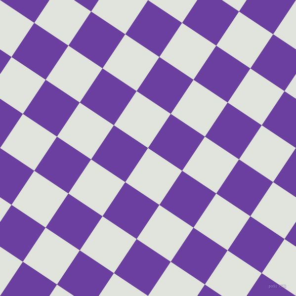 56/146 degree angle diagonal checkered chequered squares checker pattern checkers background, 83 pixel square size, , Catskill White and Royal Purple checkers chequered checkered squares seamless tileable