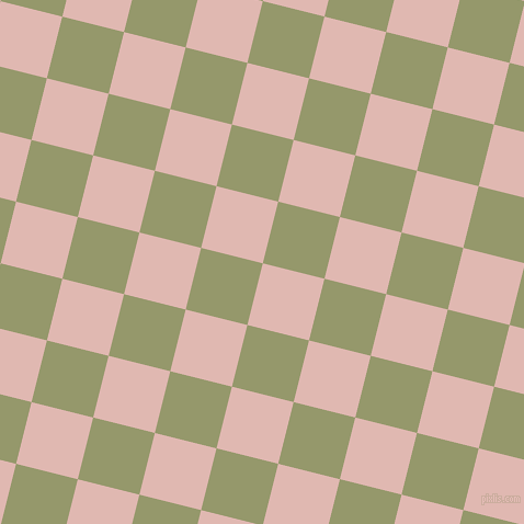 76/166 degree angle diagonal checkered chequered squares checker pattern checkers background, 58 pixel square size, , Cavern Pink and Avocado checkers chequered checkered squares seamless tileable