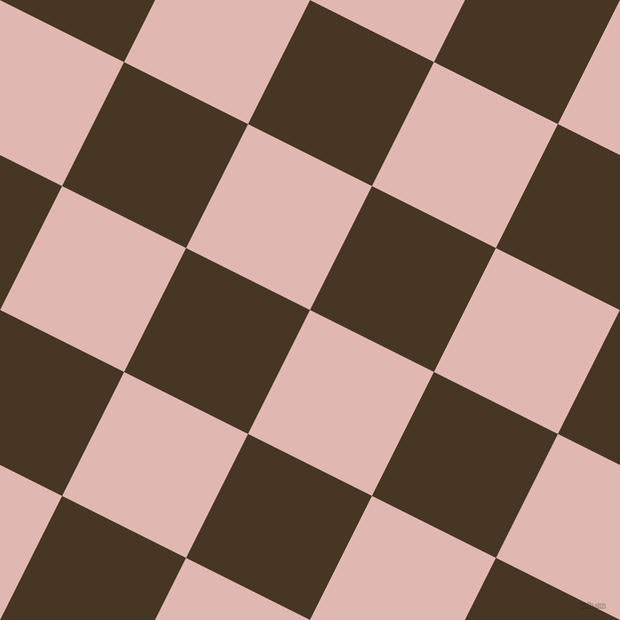 63/153 degree angle diagonal checkered chequered squares checker pattern checkers background, 194 pixel squares size, Cavern Pink and Clinker checkers chequered checkered squares seamless tileable