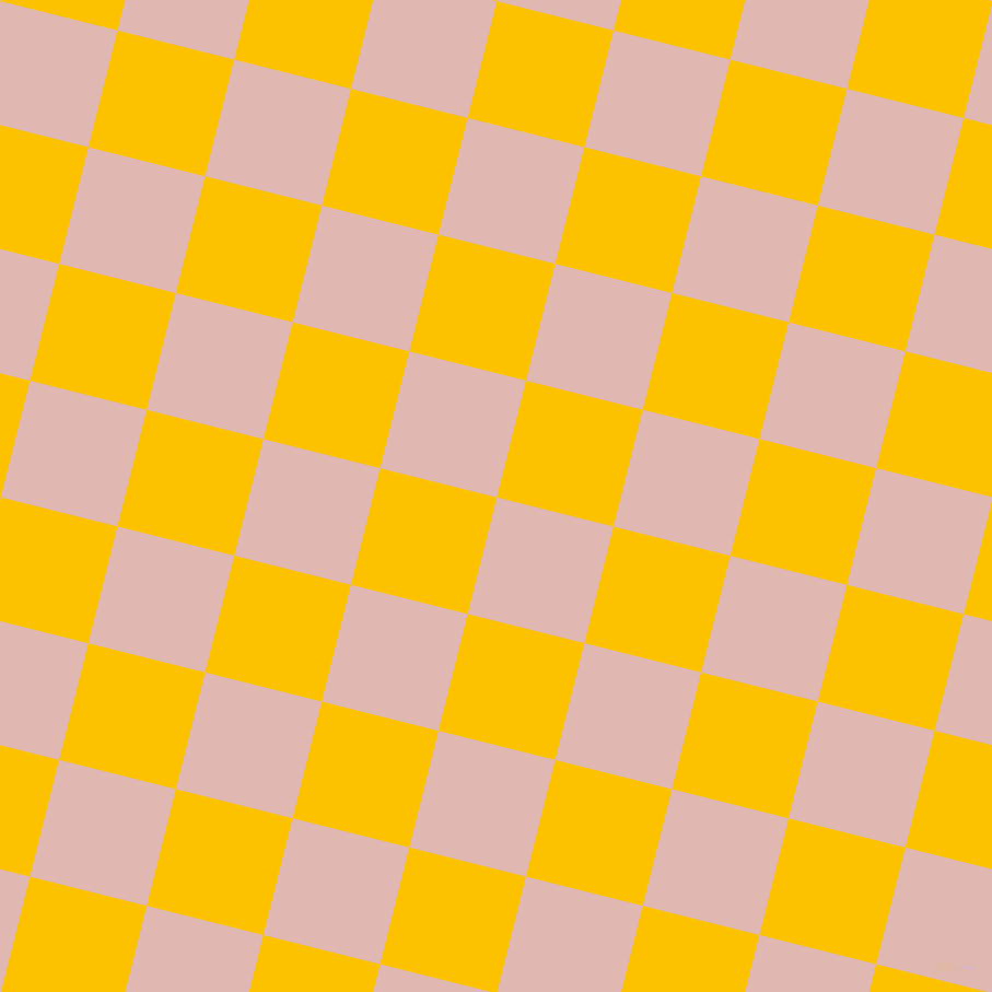 76/166 degree angle diagonal checkered chequered squares checker pattern checkers background, 110 pixel squares size, , Cavern Pink and Golden Poppy checkers chequered checkered squares seamless tileable