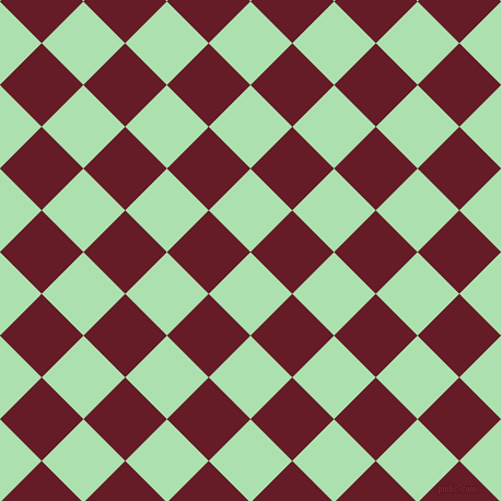 45/135 degree angle diagonal checkered chequered squares checker pattern checkers background, 54 pixel square size, , Celadon and Pohutukawa checkers chequered checkered squares seamless tileable