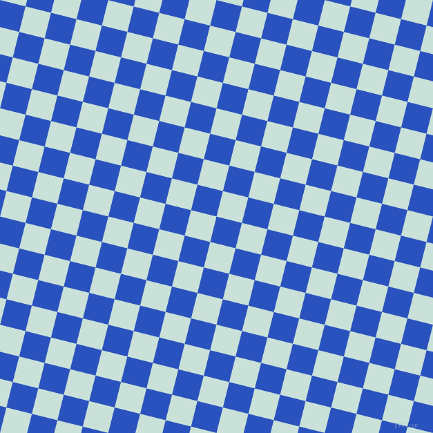76/166 degree angle diagonal checkered chequered squares checker pattern checkers background, 38 pixel squares size, , Cerulean Blue and Iceberg checkers chequered checkered squares seamless tileable