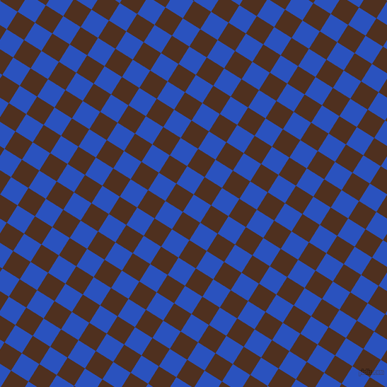 58/148 degree angle diagonal checkered chequered squares checker pattern checkers background, 29 pixel squares size, , Cerulean Blue and Indian Tan checkers chequered checkered squares seamless tileable