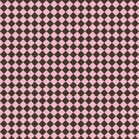 45/135 degree angle diagonal checkered chequered squares checker pattern checkers background, 18 pixel square size, , Chantilly and Dark Rum checkers chequered checkered squares seamless tileable