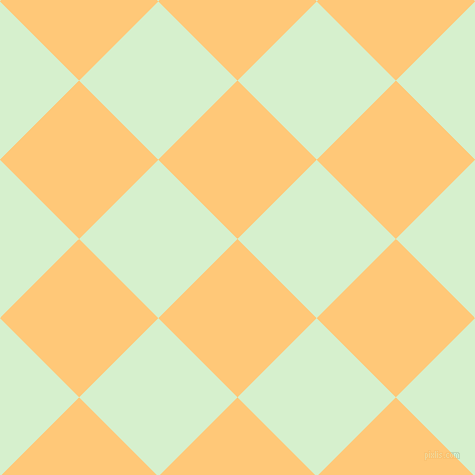 45/135 degree angle diagonal checkered chequered squares checker pattern checkers background, 112 pixel squares size, , Chardonnay and Snowy Mint checkers chequered checkered squares seamless tileable