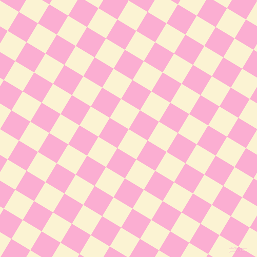 59/149 degree angle diagonal checkered chequered squares checker pattern checkers background, 43 pixel squares size, , China Ivory and Lavender Pink checkers chequered checkered squares seamless tileable