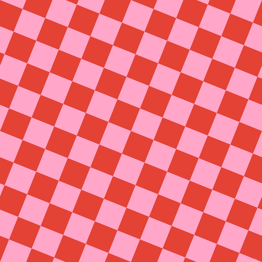 68/158 degree angle diagonal checkered chequered squares checker pattern checkers background, 84 pixel squares size, , Cinnabar and Carnation Pink checkers chequered checkered squares seamless tileable