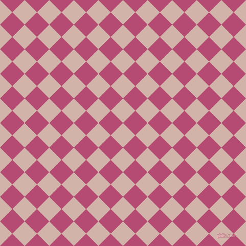 45/135 degree angle diagonal checkered chequered squares checker pattern checkers background, 34 pixel squares size, , Clam Shell and Royal Heath checkers chequered checkered squares seamless tileable