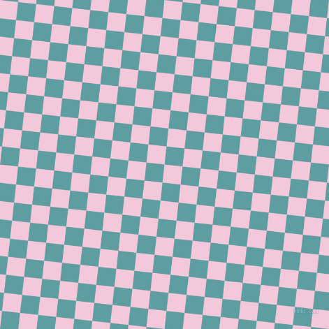 84/174 degree angle diagonal checkered chequered squares checker pattern checkers background, 26 pixel squares size, , Classic Rose and Cadet Blue checkers chequered checkered squares seamless tileable